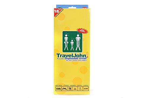 TravelJohn 66892 Disposable Urinal18 packWHITE