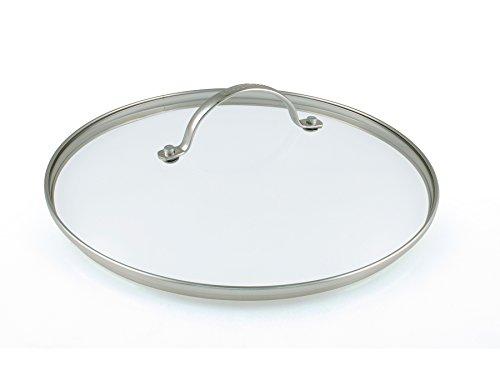 GreenPan Universal Glasdeckel für Bratpfanne und Kochtopf mit Edelstahl Griff, Spülmaschinengeeignet - 20 cm, Transparent