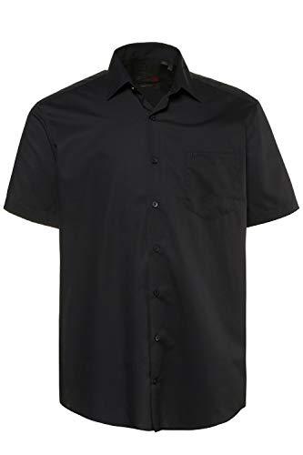 JP 1880 Herren große Größen bis 8XL, Halbarm-Hemd, Businesshemd, Popeline-Gewebe, bügelfrei, Kent-Kragen, Brusttasche schwarz 7XL 713990 10-7XL
