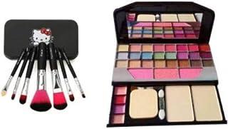 BTN Face Makeup Brush Set + Tyah Eye Shadow Kit-(2 Items In The Set)