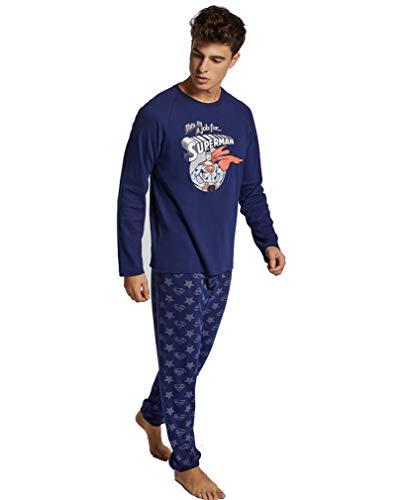 Pijama Hombre Superman (XL, Marino)