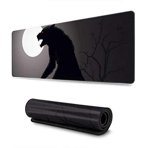 Lurking Werewolf Mousepad Non-Slip Rubber Gaming Mouse Pad Mouse Pads for Computers Laptop 11.8 X 31.5 in