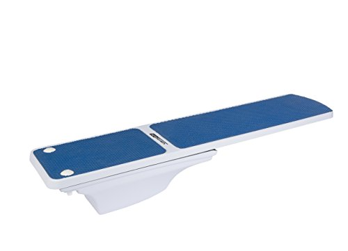 S.R. Smith 68-207-7382B Flyte Deck II Stand with 8-Foot Truetread Diving Board, Radiant White/Blue