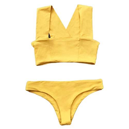 LinkShow Womens Polka Dots Print Summer Beach Sexy Strappy Holiday Swimsuits Bikini Set 30 M