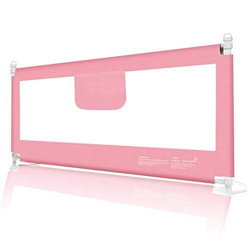 MWPO Hochbettschienenschutz Kleinkind Absturzsicherung Vertikaler Hebesicherheit Schlaf Tragbar 8-Block-Einstellung, 1 Seite (Farbe: Pink, Größe: 180 cm)