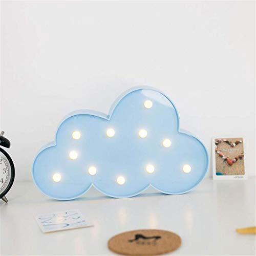 MTX Ltd Lumière de Nuit Ins Cloud Lumière Bleue Fille Coeur Chambre Décoration Lampe Pen Props Lampe de Table Peut Être Créatif Night Light LED Lumières Décoratives