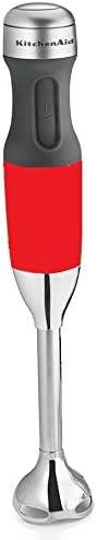 KitchenAid RKHB2351ER 3-Speed Hand Blender Empire red (RENEWED) (CERTIFIED REFURBISHED)