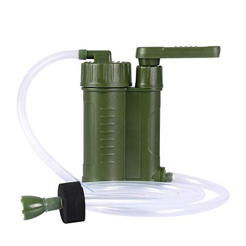 Qdreclod Wasserfilter Outdoor Survival Tragbarer Wasser Filter Stroh Wasser Luftreiniger Wasser Filtration System für Camping Wandern Reisen Rucksack Abenteuer - 2-Stufen-Filtration