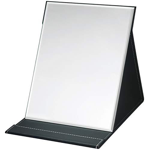 折立鏡 大きな鏡 化粧鏡 折立ミラー 卓上鏡 角度は自由に調整できます上質PUレザーミラー LL(24.5*20cm)