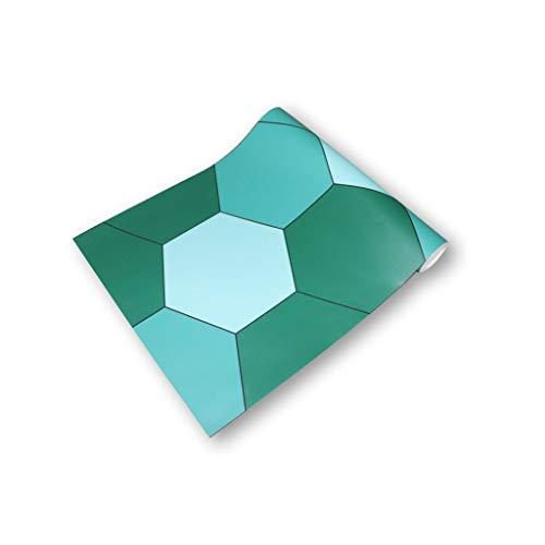 ZHBSS Elegantes calcomanías de Azulejos hexagonales, Papel Autoadhesivo Impermeable para Cocina y baño, Modernos Adhesivos de Pared de Estilo Minimalista 30 cm * 260 cm Verde