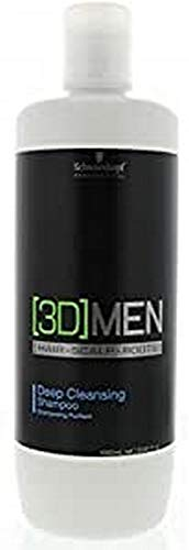 Schwarzkopf 3D Men Deep Cleansing Shampoo, 1000 ml