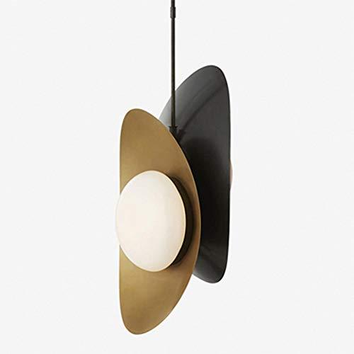 Luz pendiente posmoderna, Suspensión de cristal blanca Pantalla accesorio de la lámpara de metal, aparatos de alumbrado colgantes de techo for Office Dormitorio Comedor Cafe, G9 lámpara de LED