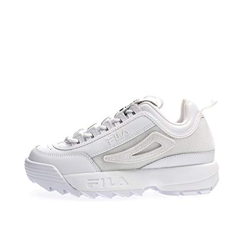 Fila Damen Sneaker Disruptor II Patches Sneakers, White, 39 EU