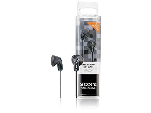 Sony MDRE9LPB - Auriculares de Botón, Color Negro, In Ear