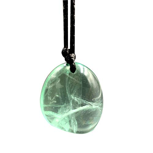 N/V Fluorita Verde Natural Piedra de Cristal Colgante de Roca Grava Rugosa Caída a Granel Cuarzo Curación Reiki Collar de Piedras Preciosas Naturales-Light_Green