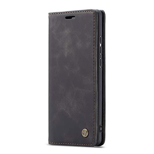 JMstore hülle kompatibel mit Xiaomi Redmi K30 Pro/Poco F2 Pro, Leder Flip Schutzhülle Brieftasche Handyhülle mit Kreditkarten Standfunktion (Schwarz)
