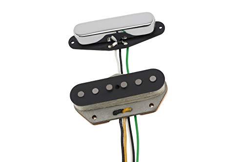 Fender® VINTERA '60S Vintage Telecaster - Juego de pastillas para guitarra eléctrica, color negro y cromado