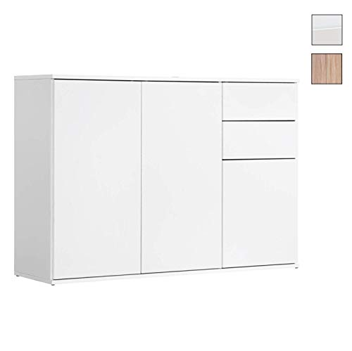 mokebo® Kommode \'Die Elegante\', modernes Sideboard oder Highboard, Made in Germany & klimaneutraler Versand, Weiß -11
