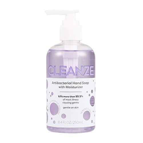 Cleanze Antibacterial Liquid Hand Soap | 8 oz Clean Serene Lavender Scented Liquid Hand Soap | Gentle Liquid Antibacterial Hand Soap Eliminates More Than 99.9% Illness Causing Germs & Bacteria