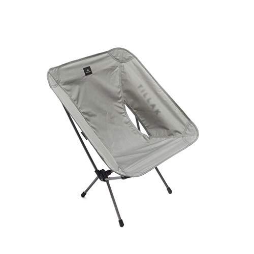 SFS Silla portátil de playa, camping, plegable, ligera, portátil, alta silla de playa plegable para acampar, barbacoas, mochileros, muebles de camping (color gris)