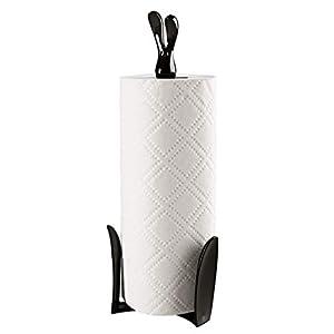 koziol Küchenrollenhalter  Roger,  Kunststoff, solid schwarz, 11,6 x 12,3 x 33,4 cm
