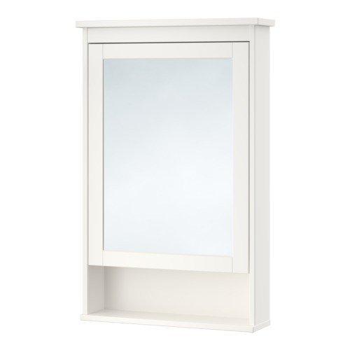 IKEA HEMNES Spiegelschrank mit 1 Tür; in weiß; (63x16x98cm)
