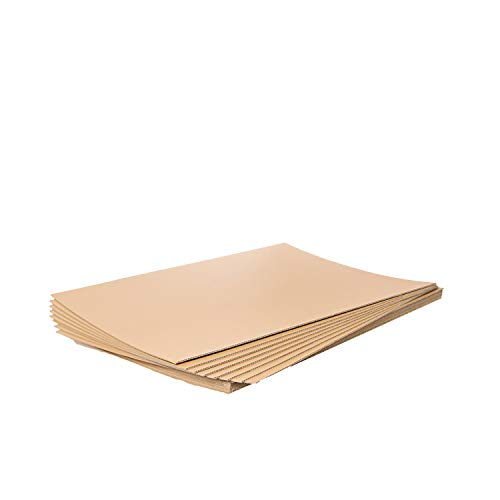 Corrugated Cardboard Sheets x 20 Sheets - 762x1016mm x 3mm Thick - 125 Grade. Packaging2Buy's Strong, but Lightweight Single Wall Board, is Good For Packaging, Cushioning & Crafts or as Packing Wrap / Sleeves. Clean Card Sheeting, Includes Recycled Materials & Can Be Reused Or Recycled.