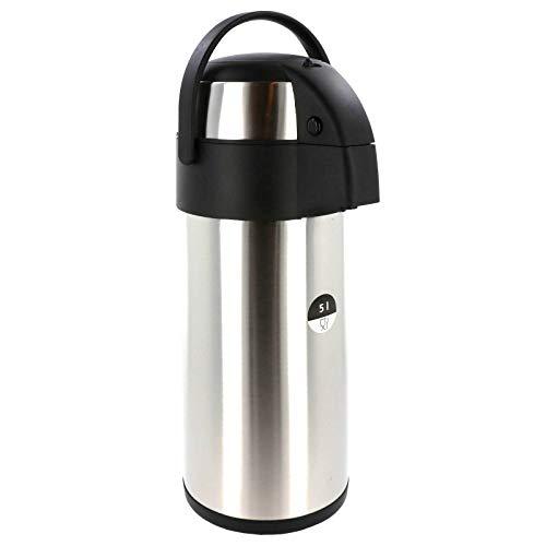 Smartweb Airpot 5,0 L Pumpkanne Isolierkanne Thermo Kanne Kaffeekanne Camping Edelstahl