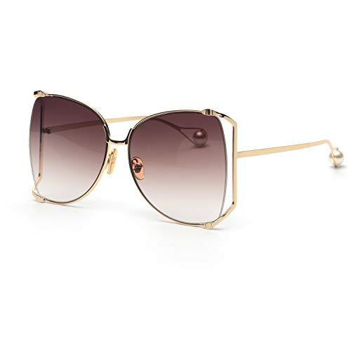 FAGUMA Oversized Sunglasses For Women Semi Rimless Brand Designer Shades