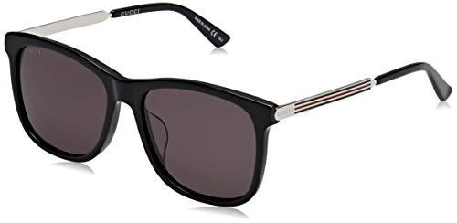 Gucci GG0078SK 002 Gafas de sol, Negro (Black/Grey), 56 para Hombre