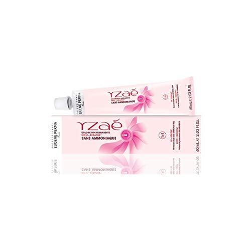 Yzaè – Coloración permanente para el cabello profesional en crema sin amoniaco con queratina, aceite de camelia y Sophora japonesa – Brillo extra y color duradero – Formato 60 ml Biondo Intenso