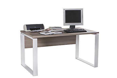 Amazon Marke - Movian - Schreibtisch, 140 x 74,5 x 80cm, Dunkle Eiche