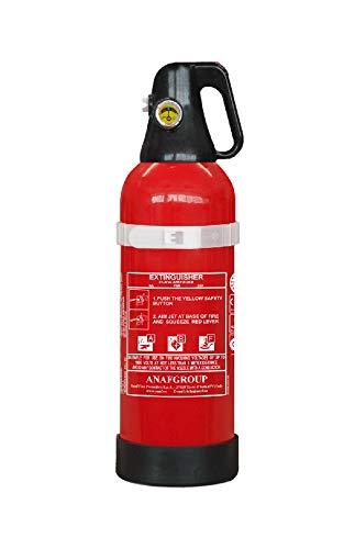 2 L Schaum Fettbrand Feuerlöscher (ABF) ANAF FS2-P nach DIN EN 3 & GS geprüft, mit Manometer Fahrzeughalterung Aluminiumgehäuse - Für Haushalt Werkstatt Auto Wohnmobil Marine