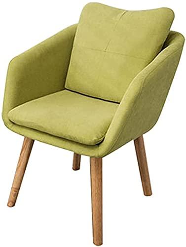 JFIA65A Silla de comedor de franela para el hogar, con patas de roble moderno, para dormitorio, balcón, silla de ordenador, 50 x 50 x 73 cm (color: C)
