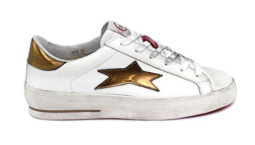Ishikawa Sneaker Low Plus 1870 Taglia 40 - Colore Bianco/Oro