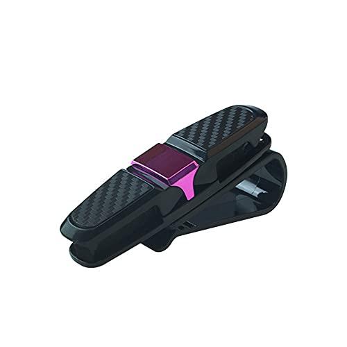 xinying Funda de gafas portátil para coche, soporte portátil para tarjetas de billete con clip para gafas de sol para coche, accesorios para automóviles (nombre del color: rojo)