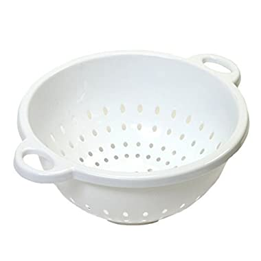 Chef Craft 5-Quart 11 x 5 inch Deep Colander White 3-pack