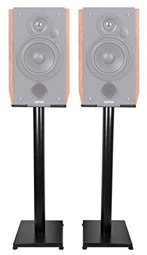 Best Bargain Black 29 Steel Bookshelf Speaker Stands for Edifier R1700BT Bookshelf Speakers