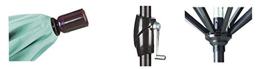 California Umbrella GSPT758117-F27 7.5' Round Aluminum Market, Crank Lift, Push Button Tilt, Bronze Pole, Olefin Sunset Patio Umbrella, Canvas