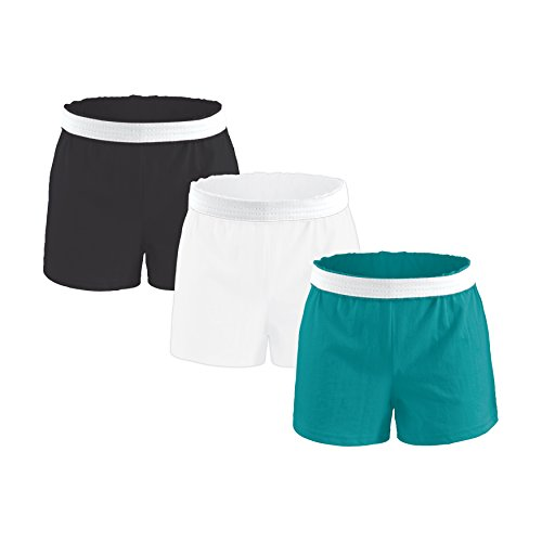 Authentic Soffe Shorts for Women - Teal/White/Black, Medium
