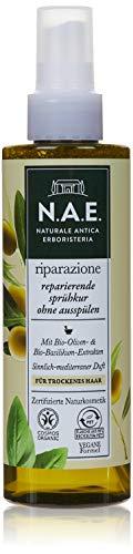 N.A.E. Naturale Antica Erboristeria riparazione - Tratamiento reparador sin enjuagar, certificado orgánico COSMOS por IONC (BDIH) y fórmula vegana, paquete de 6 unidades (6 x 200 ml) MNCE
