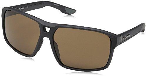 Columbia Gafas de sol Aviator Black Ridge para hombre, tibur¨®n mate, 62 mm