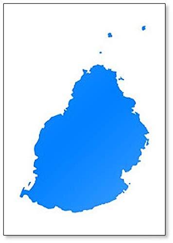 Eenvoudige kaart van Mauritius Koelkast Magneet