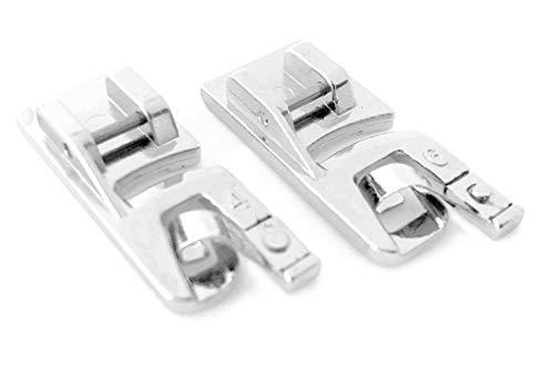 Rollsaumfuß Nähfuß (Doppelpack) 4mm+6mm für Brother Nähmaschinen Innovis 10, 15, 20, 27, 35, 55, A150, A80, A50, A16 u.v.m.