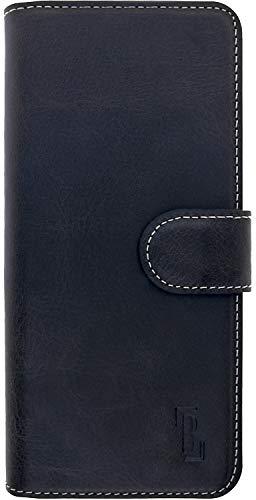 Burkley Handyhülle für Samsung Galaxy A31 Leder-Hülle kompatibel mit Galaxy A31 Handytasche - TÜV geprüfter RFID/NFC Schutz - Kartenfach (Schwarz)
