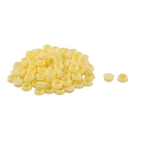 sourcingmap forme rond plast meuble désign chape vis fil jaune chape 100pcs