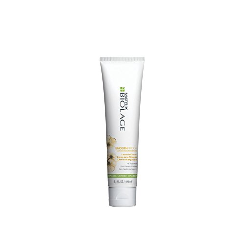 BIOLAGE SmoothProof Leave-In Cream | Controls Frizz, & Detangles for Smoother, More Manageable Hair | Paraben-Free | For Frizzy Hair | 5.1 Fl Oz.
