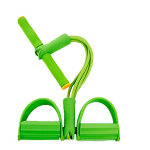 Tensores Musculacion -Pedal Sit-Ups Adelgazamiento Abdominal, Cuerda EláStica, Cuerda De Pierna, Pilates Banda EláStica-绿色