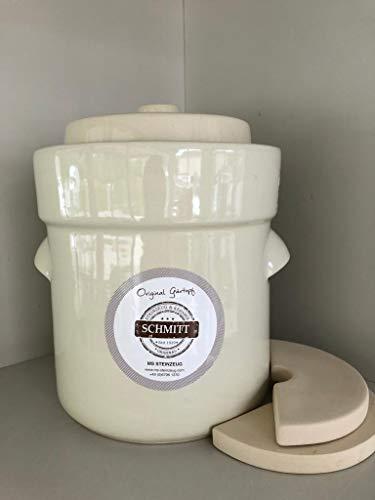 MS-Steinzeug.com - Vaso per crauti, 10 l, colore: Crema