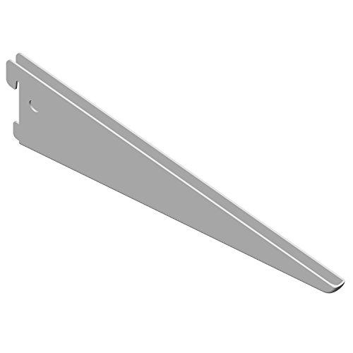 Element System U-Träger Regalträger 2-reihig, 2 Stück, 5 Abmessungen, 3 Farben, Länge 27 cm für Regalsystem, Wandschiene, weiß